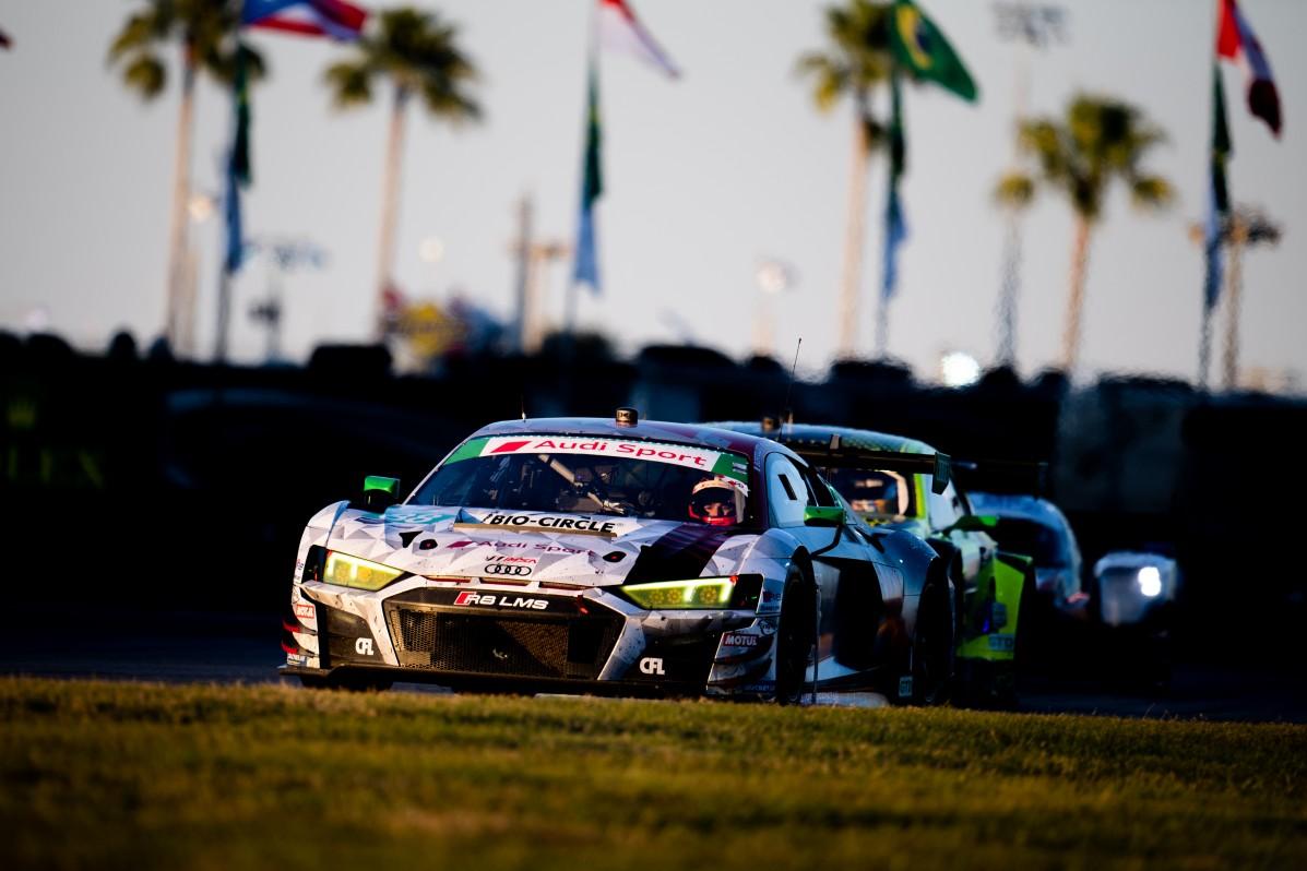 January 25-26, 2020. IMSA Weathertech Series. Rolex Daytona 24hr. #88 WRT Speedstar Audi Sport Audi R8 LMS GT3, GTD: Mirko Bortolotti, Rolf Ineichen, Daniel Morad, Dries Vanthoor